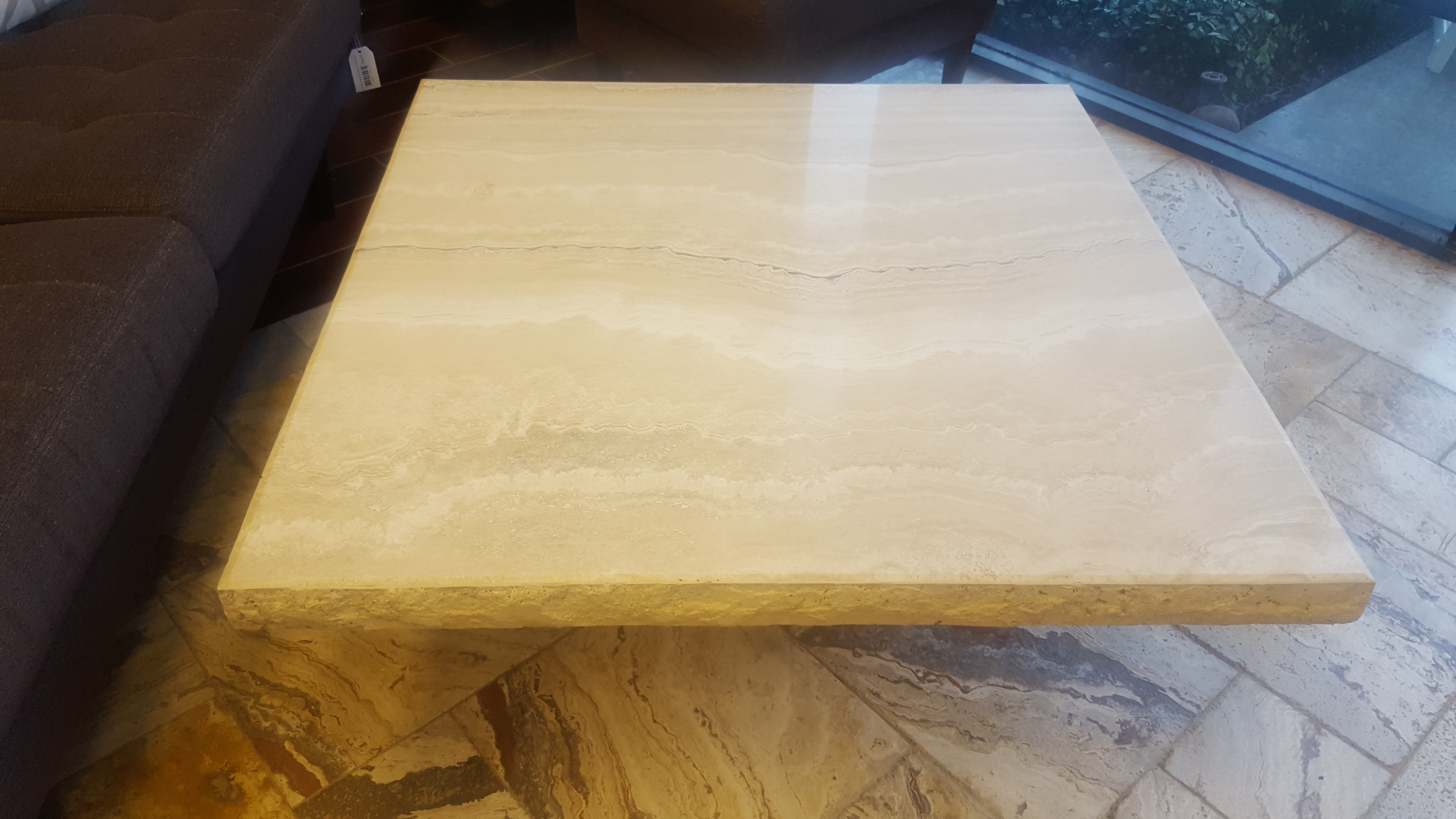 Stone International SPA Travertine Coffee Table – Design Consignment