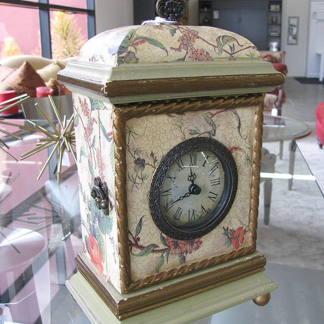 Faux Antique Desk Clock