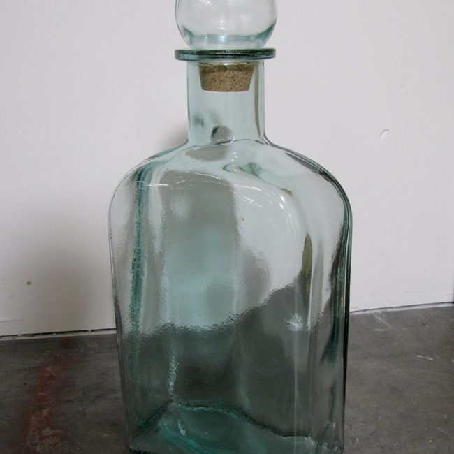 Green glass jar with stopper